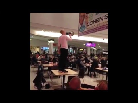 """Will the real slim shady please stand up"" In the food court"