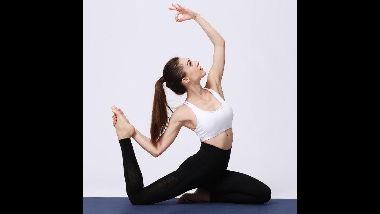 سروال يوغا نسائي للركض عالي الخصر سروال اللياقة البدنية