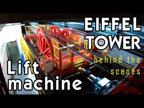 "Tour of EIFFEL TOWER ELEVATOR MACHINE (""no filming allowed"")"