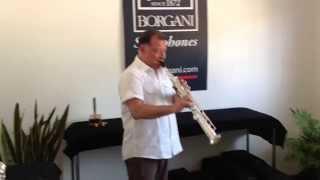 Roberto Ottaviano at Borgani Saxophones (Macerata, Italy)