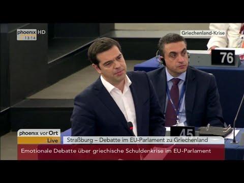 Emotionale Debatte: Weber vs. Tsipras - Farage, Le Pen, Lucke, Iglesias 08.07.15 - Bananenrepublik