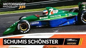 Michael Schumachers erstes Formel 1-Auto: einer der schönsten F1-Boliden?!