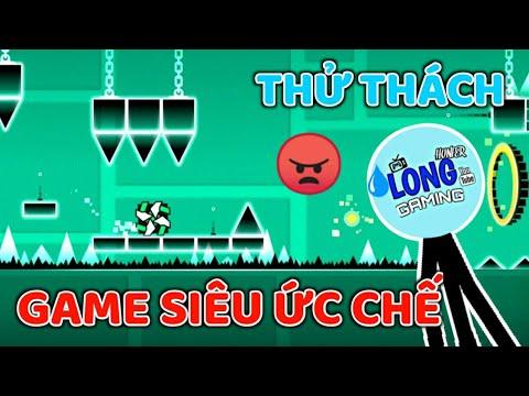 THỬ THÁCH PHÁ ĐẢO TỰA GAME KHÓ NHẤT THẾ GIỚI TRONG MỘT LẦN THỬ!!! LongHunter Chơi Geometry Dash