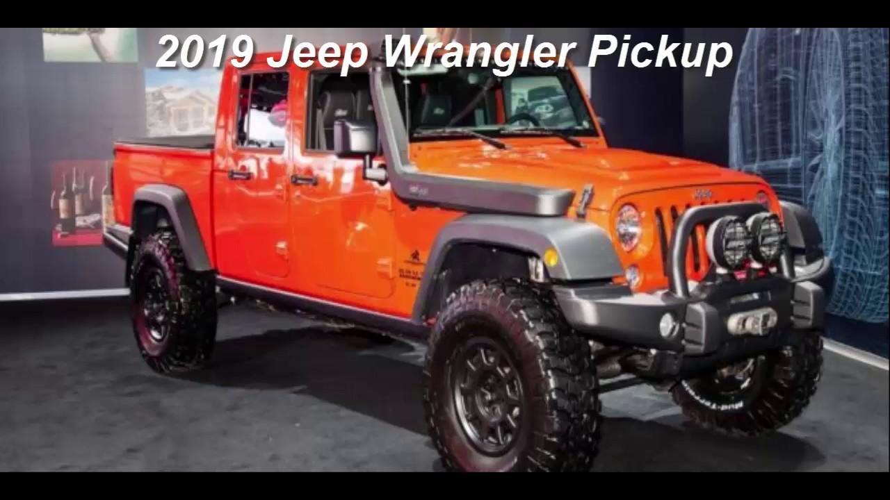 2019 jeep wrangler pickup - youtube