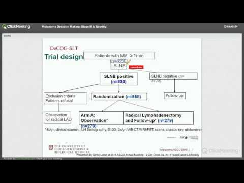 Decision Making for Melanoma, Stage III & Beyond