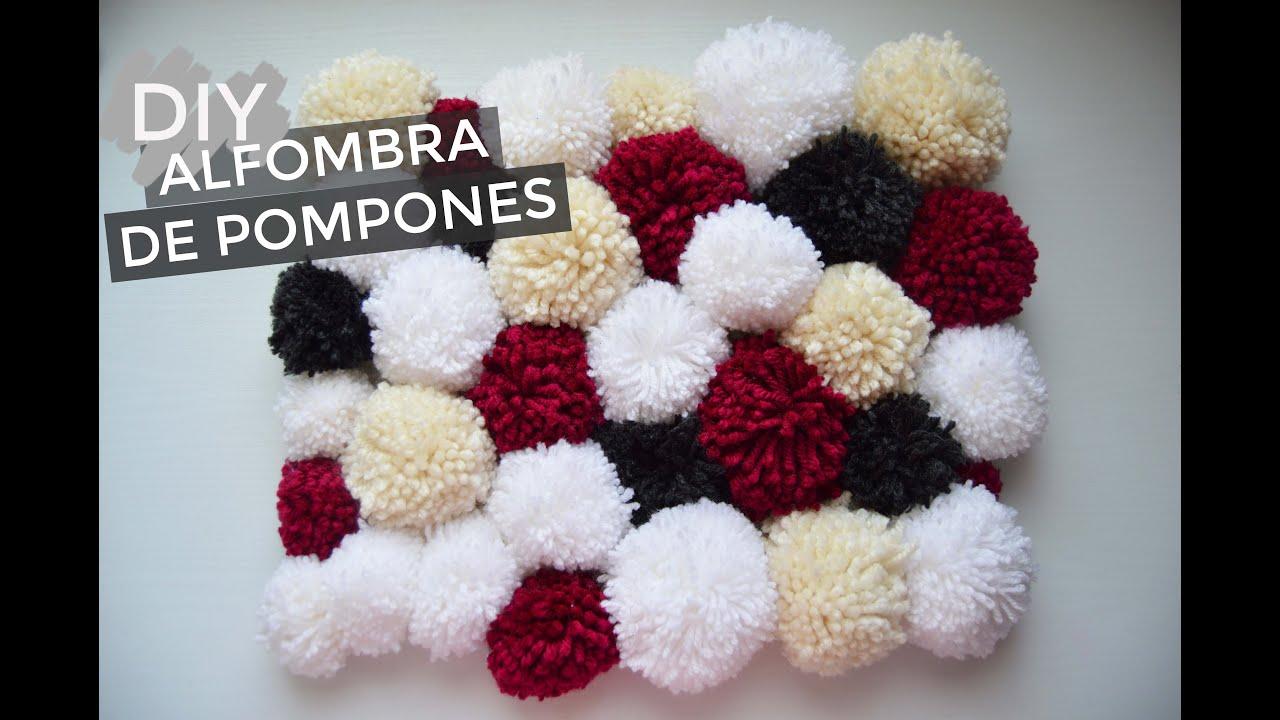 Diy alfombra de pompones pompom rug the white diy - Alfombra de pompones ...