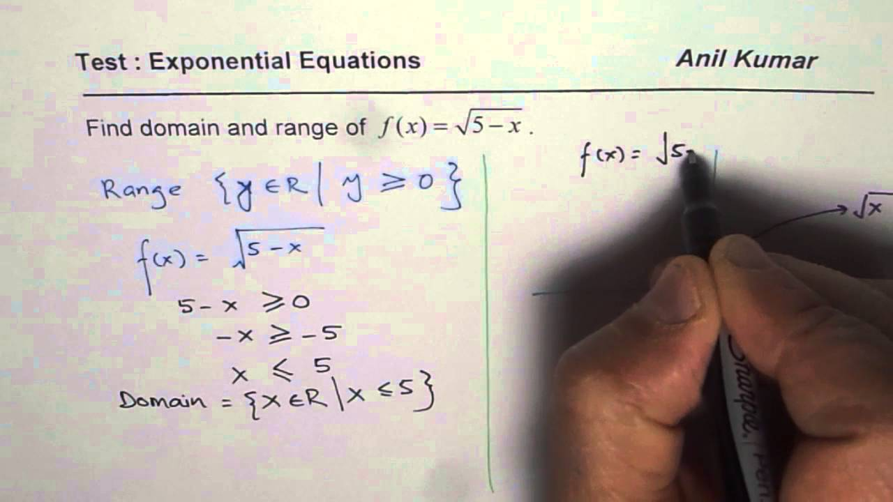 Sketch and Find Domain and Range of Square Root Transformed function ...