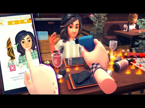 I Swiped Right & Almost Burnt My Date In Table Manners - Hilarious Dating Simulator