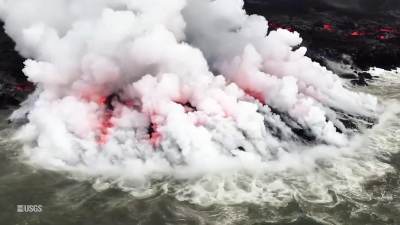 A mile of new coastline created by Hawaii's Kilauea volcano