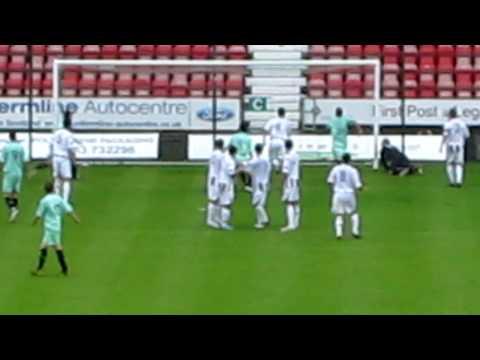 Dunfermline v Hibs 10 July 2010 Liam Miller Goal