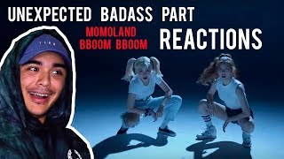 PEOPLE REACTING TO UNEXPECTED RAP PART IN MOMOLAND BBOOM BBOOM (COMPILATION)