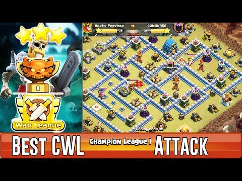 Best CWL Champion League Attack!! Any Grounds & Air Strategy Hit 3 Stars TH12 ( Clash of Clans )