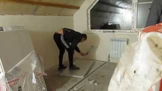 Пол из полистирола в каркасном  доме ЛСТК(, 2014-11-09T10:51:49.000Z)