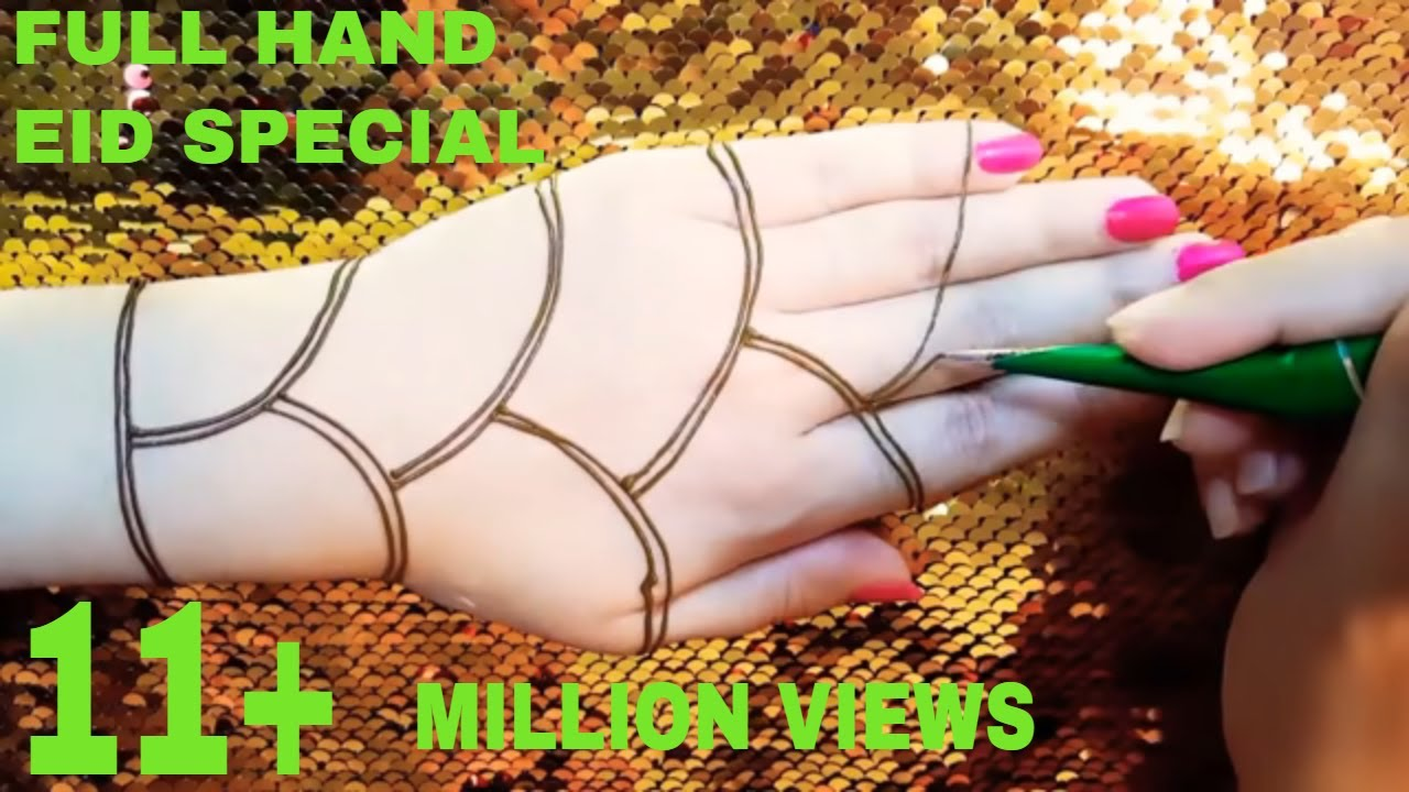 Full Hand Eid Special Mehndi Design Beautiful Simple And