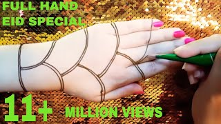 Full Hand Eid Special Mehndi Design || Beautiful simple and easy fuller mehndi design for eid