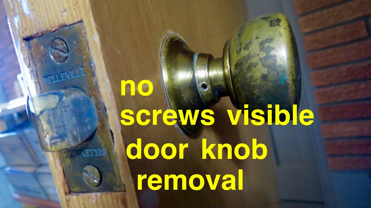 How to Door Knob Removal no screws visible YouTube