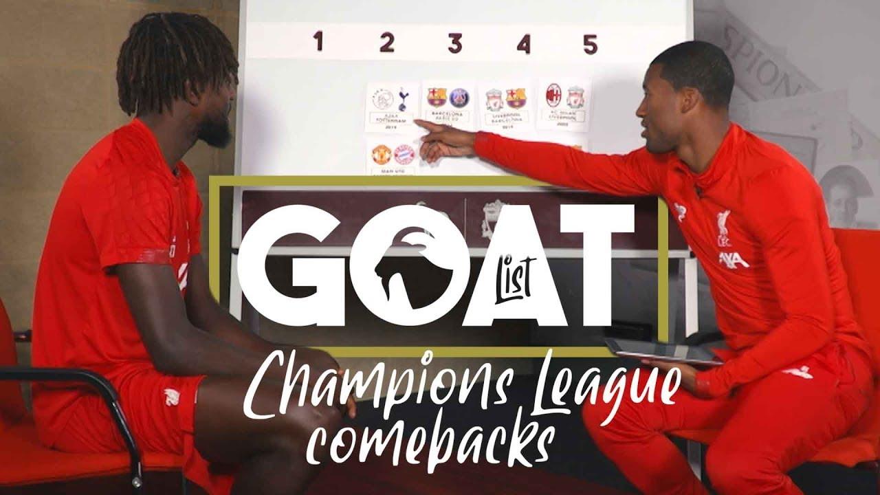 Download Wijnaldum & Origi pick their GOAT 'Champions League Comebacks'   'Let's respect the OGs'