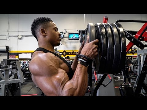 BACK DAY AT GOLDS GYM | LA VLOG 3