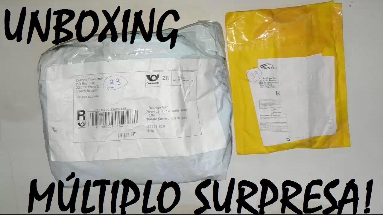 Unboxing Múltiplo Gearbest e Aliexpress Surpresa #2