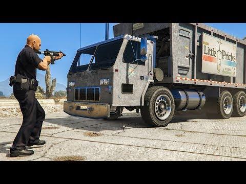I Took a DUMP TRUCK to a HEIST in GTA 5!