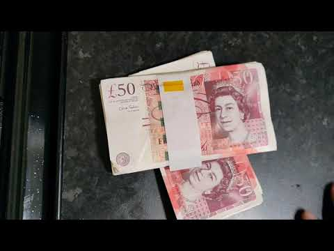 What £2000 Cash Looks Like In £50 Notes   Visualize British Money