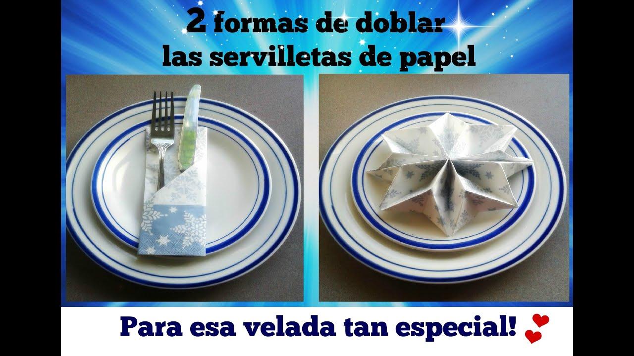 Formas Con Servilletas De Papel Adornos Glitter Dorado Y Plata Y  ~ Maneras De Doblar Servilletas De Papel