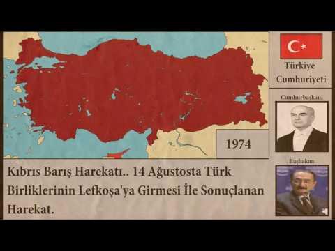 Türkiye Cumhuriyeti Her Yıl [Harita]