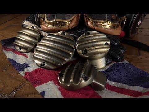 Triumph Bonneville Bobber black, Utterly  brassed off! vintage Brass webco parts from Motone.