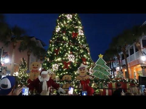 Celebration Florida Christmas Tree Lighting, Snow, and Santa! Plus Lights on Jeater Bend