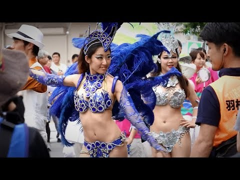 はむら夏まつり 2017 サンバパレード 東京外国語大学ブラジル研究会