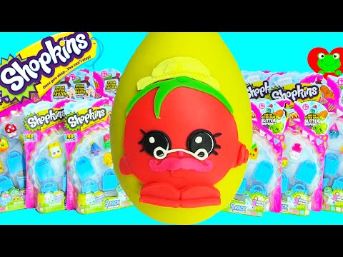 Shopkins Limited Edition Hunt and Papa Tomato Play Doh Surprise Egg