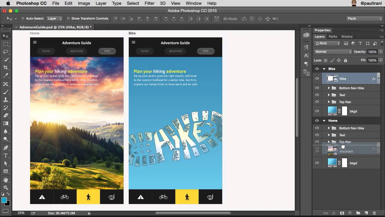 What s new in photoshop for web ui ux and app design for How do i design an app