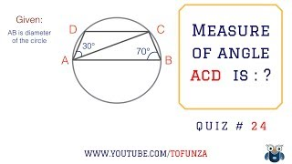 Math Puzzles with Answers in 60 seconds - Can you find the angle ACD ?