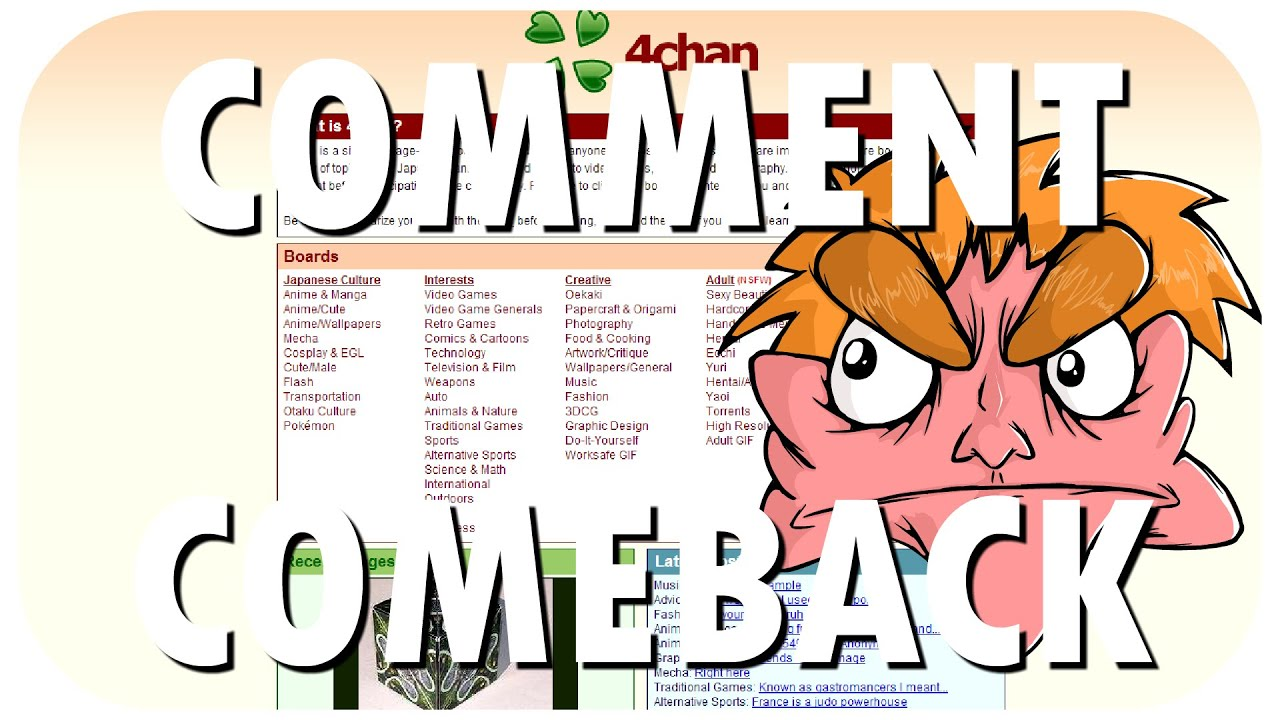 Comment Comeback: I HATE 4chan