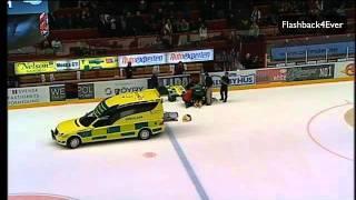 Jonas Berglund tacklas vårdlöst, 06-10-11 (Brynäs - Luleå)