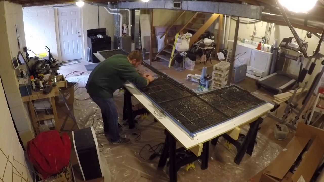 Pouring And Polishing Concrete Countertop
