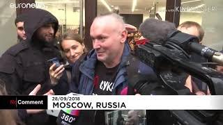 Смотреть видео В Москве большая очередь как в СССР, только не за хлебом!!!!! онлайн