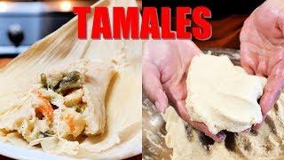 TAMALES DE CAMARON MEXICAN STYLE SEAFOOD SHRIMP TAMALES WITH INSTANT CORN MASA