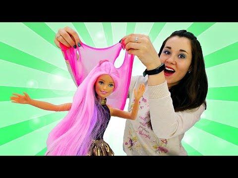 Барби в Салоне красоты красит волосы - Игры для девочек