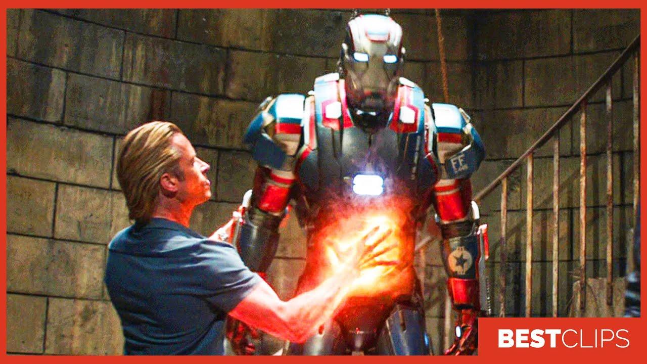 Rhodey Vs Killian - Fight Scene | Iron Man 3 (2013) Movie CLIP 4K