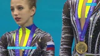 Архангелогородка стала чемпионкой мира по спортивной акробатике