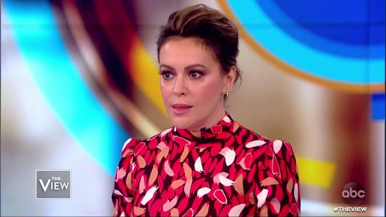 "Alyssa Milano Movie Scenes alyssa milano explains why she didn't name the ""very visible"
