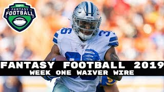 2019 Fantasy Football: Week One Waiver Wire