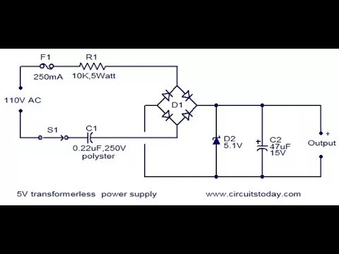 how to make a 5 volt dc power supply without transformer bangla tutorial  full part