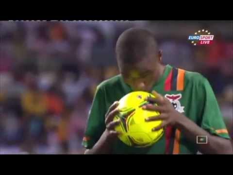 Zambia - Côte D'Ivoire - Sinkala penalty goal!