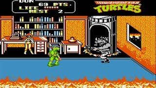Teenage Mutant Ninja Turtles 2 - Nes - ( The Arcade Game ) - Full Playthrough - No Death ♛