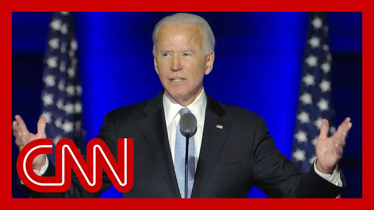 Joe Biden addresses the nation after election victory