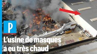 Incendie auBlanc-Mesnil: l'usine de masques sauvée par les pompiers