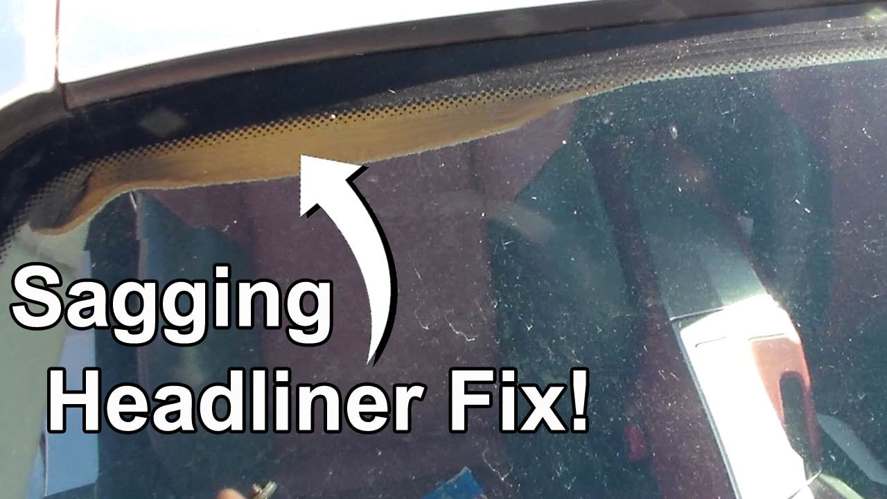 Repair sagging headliner without removing