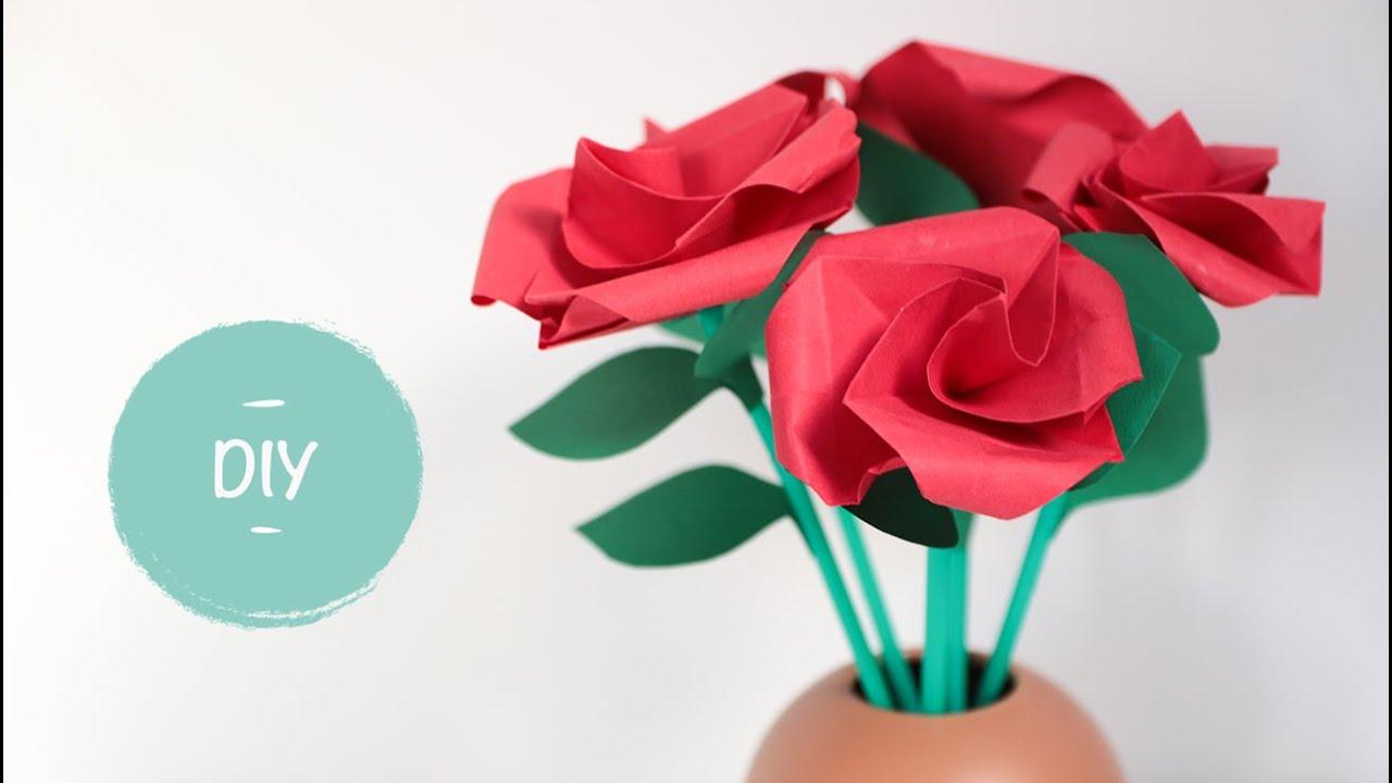 Welp Roos vouwen - Stap voor stap uitleg hoe je roosjes maken kunt van TP-12